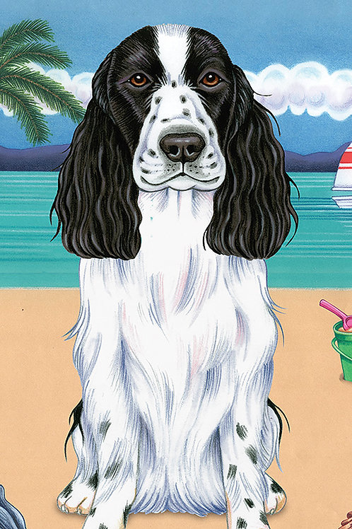 English Cocker Spaniel -Terry Velour Microfiber Beach