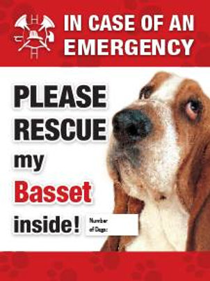 Basset Pet Safety Decal