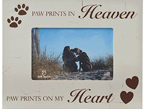 Paw Prints in Heaven Horizontal Dog Picture Frame