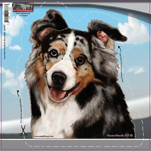Australian Shepherd - Dogs On The Move Window Decal