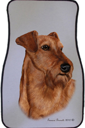 Irish Terrier Best of Breed Car Mats (set of 2)`