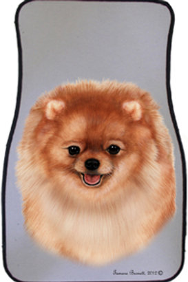 Orange Pomeranian Best of Breed Car Mats (set of 2)