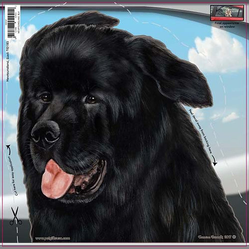 Newfoundland - Dogs On The Move Window Decal