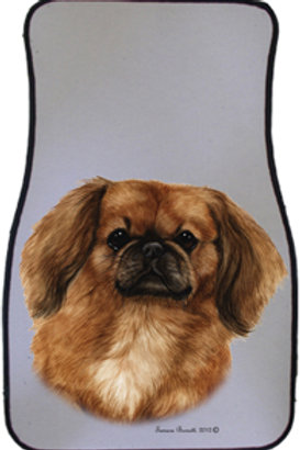 Red Pekingese Best of Breed Car Mats (set of 2)