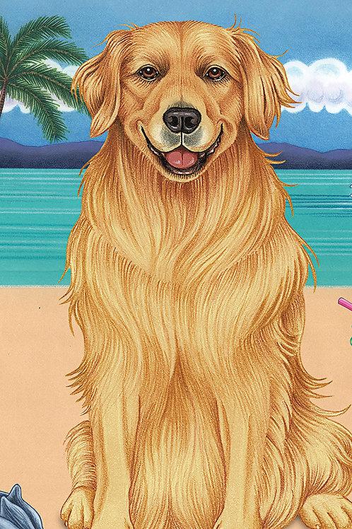 Golden Retriever -Terry Velour Microfiber Beach Towel