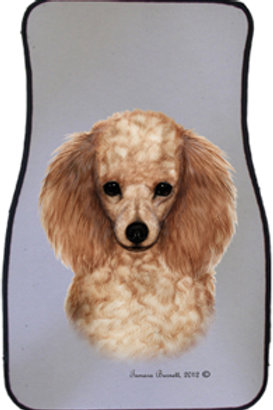 Apricot Poodle Best of Breed Car Mats (set of 2)