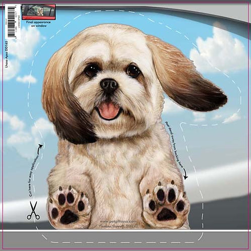 Lhasa Apso - Dogs On The Move Window Decal