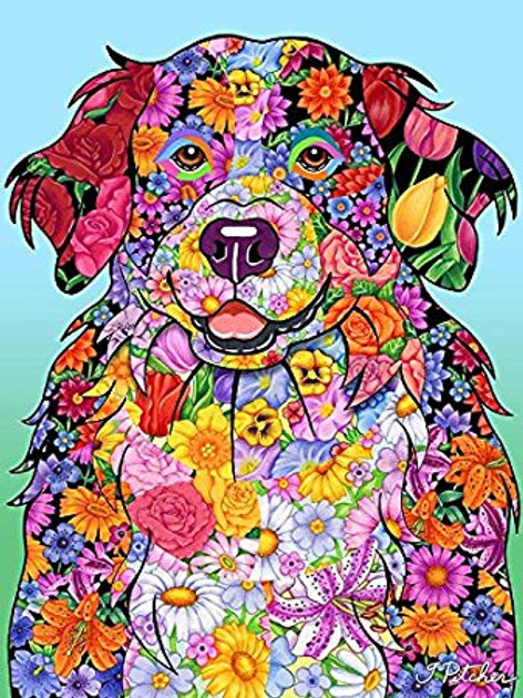 Bernese Mountain Dog - Flowers Design Garden Flag