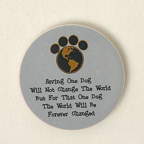 Saving One Dog Car Coaster