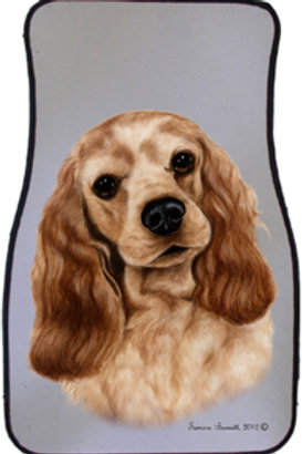 Buff Cocker Spaniel Best of Breed Car Mats (set of 2)