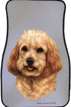 Blonde Cockapoo Best of Breed Car Mats (set of 2)
