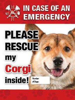 Corgi Pet Safety Decal