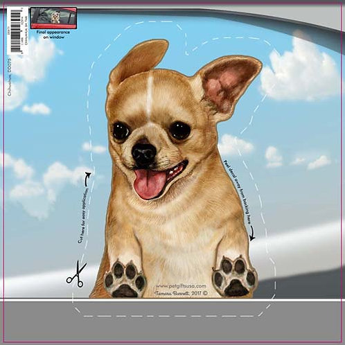 Chihuahua - Dogs On The Move Window Decal