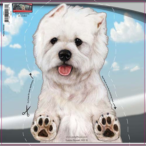 Westie - Dogs On The Move Window Decal