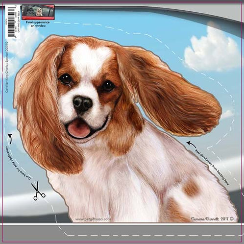 Cavalier King Charles - Dogs On The Move Window Decal