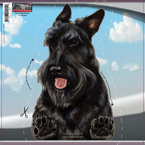 Scottish Terrier (Black) - Dogs On The Move Window Decal