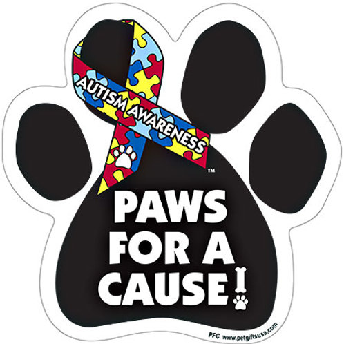 Paws For A Cause - AUTISM AWARENESS Magnet