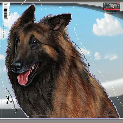 Belgian Tervuren - Dogs On The Move Window Decal
