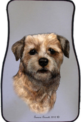 Border Terrier Best of Breed Car Mats (set of 2)