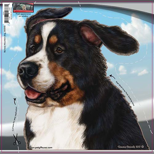 Bernese Mountain Dog - Dogs On The Move Window Decal