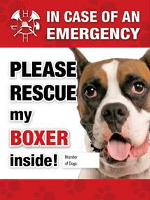 Boxer Pet Safety Decal