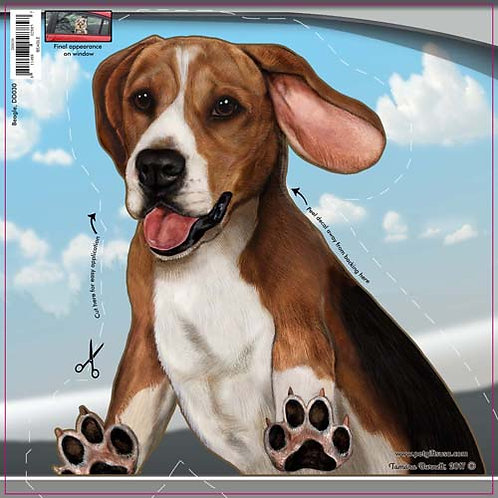 Beagle - Dogs On The Move Window Decal