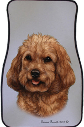 Red Cockapoo Best of Breed Car Mats (set of 2)