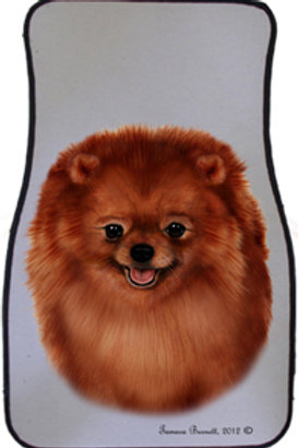 Pomeranian Best of Breed Car Mats (set of 2)