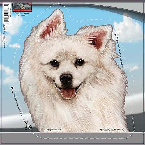American Eskimo - Dogs On The Move Window Decal