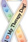 Therapy Dog Ribbon Magnet