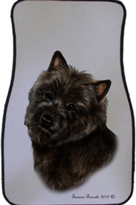 Black Cairn Terrier Best of Breed Car Mats (set of 2)