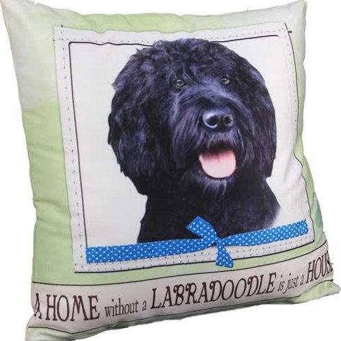 Black Labradoodle Super Soft Pet Pillow