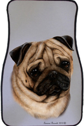 Fawn Pug Best of Breed Car Mats (set of 2)