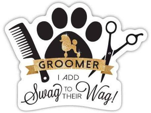 Groomer Gold Swag Magnet