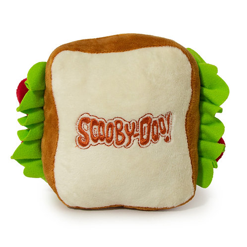 SCOOBY DOO Sandwich Squeaky Plush Dog toy
