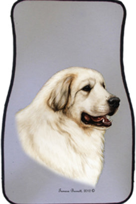 Great Pyrenees Best of Breed Car Mats (set of 2)
