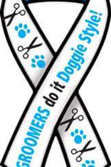 Groomers Do It Doggie Style Ribbon Magnet