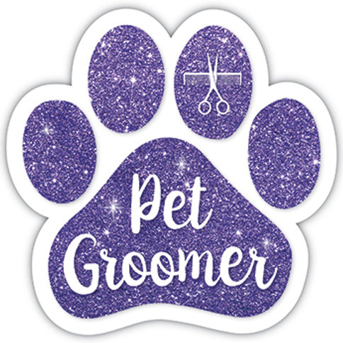 Pet Groomer Purple Glitter