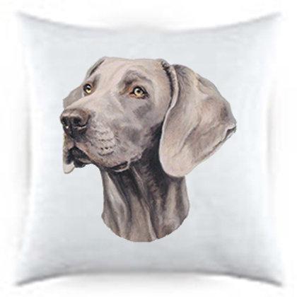 Weimaraner Dog Portrait Satin Throw Pillow