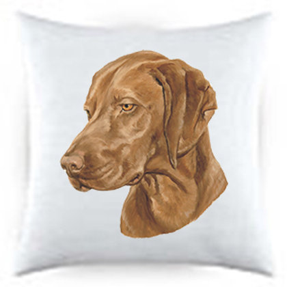 Vizla Dog Portrait Satin Throw Pillow