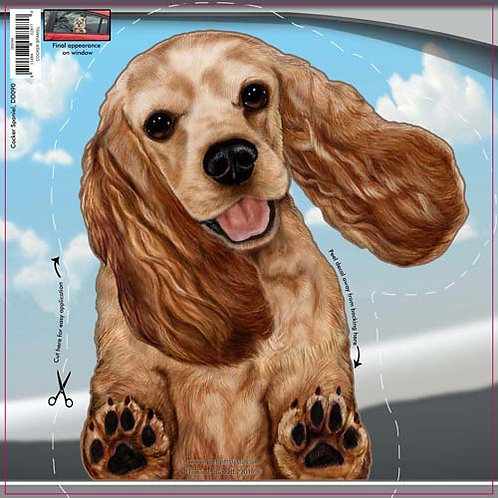 Cocker Spaniel - Dogs On The Move Window Decal