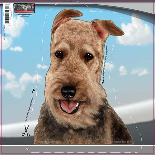 Airedale - Dogs On The Move Window Decal
