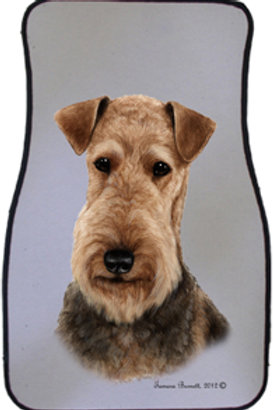Airedale Best of Breed Car Mats (set of 2)