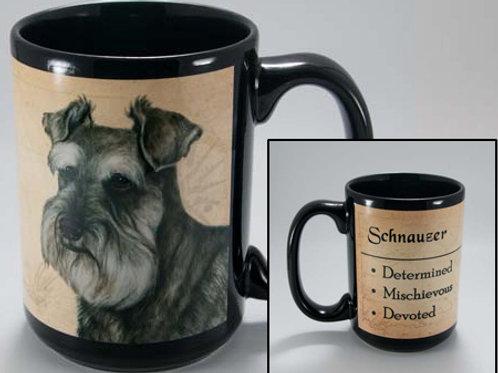Schnauzer uncropped - My Faithful Friend Mug