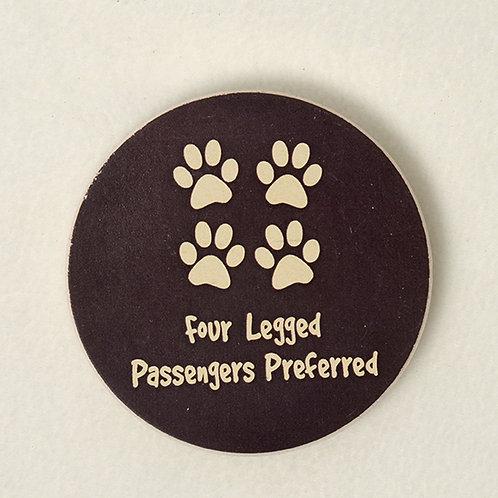 Four Legged Passengers Preferred Car Coaster