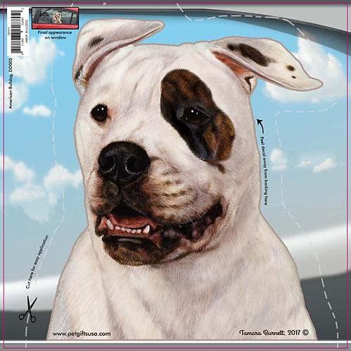 American Bulldog - Dogs On The Move Window Decal