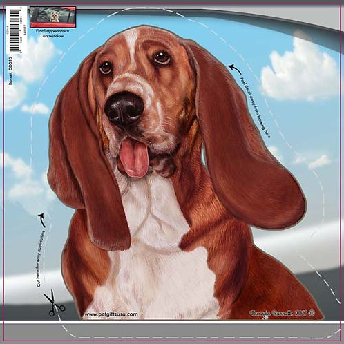 Basset Hound - Dogs On The Move Window Decal