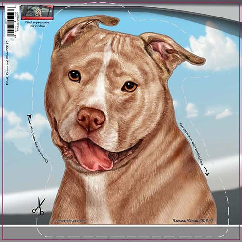 Pitbull - Dogs On The Move Window Decal
