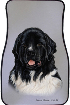 Newfoundland Landseer Best of Breed Car Mats (set of 2)