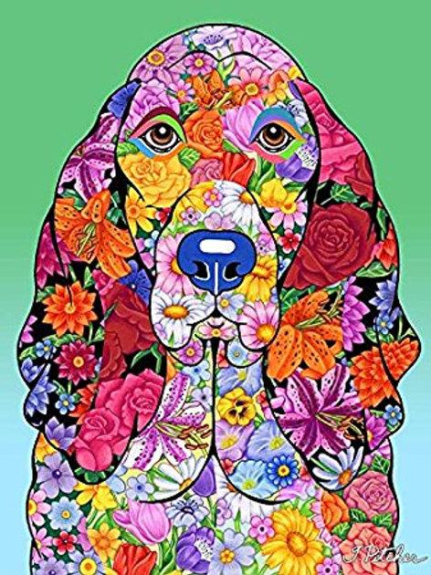 Basset Hound - Flowers Design Garden Flag